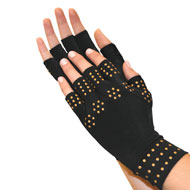Magnetic Arthritis Compression Gloves, Black - 43599