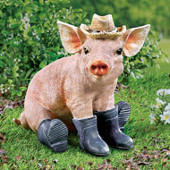 Pig in Boots Animal Garden Statue Decoration - 43605