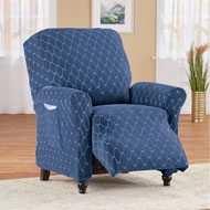 Diamond Stretch Stain Resistant Furniture Slipcover