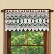 Macrame Curtain Valance Window Topper - 43634