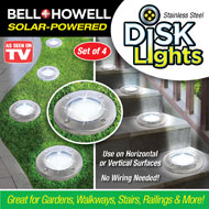 Bell & Howell Solar Round Disk Lights - 43638