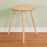 "Round Wooden Side Accent Table, 20"" Diam - 43644"