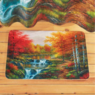Autumn Glory Scenic Trees and River Bath Mat - 43666