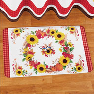 Sunflowers Bath Mat with Fall Leaves Wreath - 43668