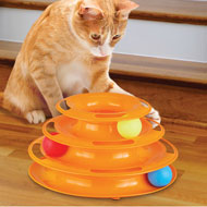 Three-level Track with Balls Interactive Cat Toy - 43688