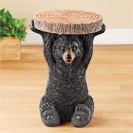 Decorative Black Bear Accent Table Cabin Décor - 43699