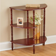 Three Tier Half Moon Shelf and Console Table - 43700