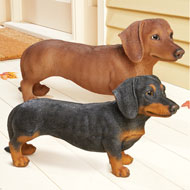 Cute Dachshund Statue Hand Painted Indoor Décor - 43730