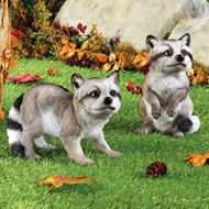 Raccoon Statue Hand Painted Garden Décor - 43734