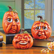 Expressive Pumpkins Fall Tabletop Décor - 43764