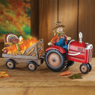 Light Up Scarecrow on Tractor Tabletop Decoration - 43779