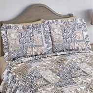 Gulliana Neutral Colors Ruffled Pillow Sham - 43801