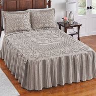 Pristine Scroll & Lattice Chenille Bedspread - 43825