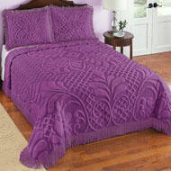 Antique Charm Medallion Scroll Chenille Bedspread - 43826