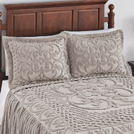 Pristine Scroll & Lattice Chenille Pillow Sham - 43830