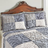 Grey Patch Chenille Pillow Sham - 43832