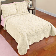 Elegant Faux Fur Rose Quilt - 43878