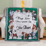 Paw Prints Tapestry Throw - 43896