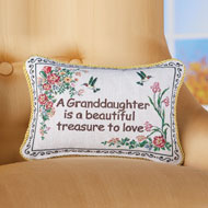 Granddaughter Floral Tapestry Throw Pillow - 43905