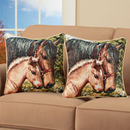 Tapestry Horse Throw Pillow Cover Set, 2 pc - 43907
