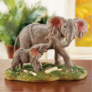 Mother and Baby Elephant Tabletop Figurine - 43935