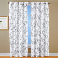 Metallic Branches Sheer Window Curtain Panels - 43937