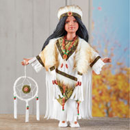 Kasa Native American Collectable Porcelain Doll - 43948