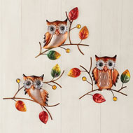 Owl Wall Trio - 43954