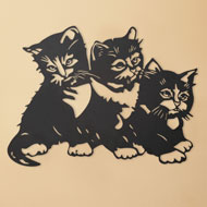 Metal Kittens Wall Art - 43959