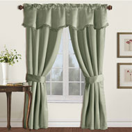 Burlington Black Out Drapery Set with Valance - 43962