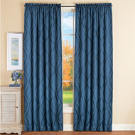 Diamond Lattice Blackout Window Curtain Panel - 43963