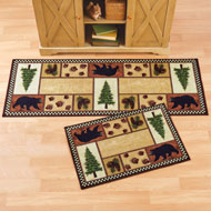 Northwoods Icons Accent Rug with Black Bears - 43977