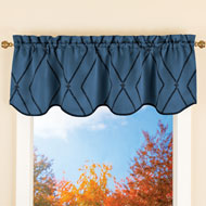 Diamond Lattice Blackout Window Valance Curtain