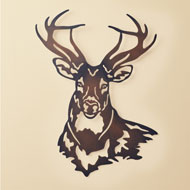 Deer Metal Wall Art Sculpture with Rustic Finish - 43989