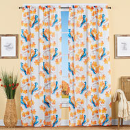 Autumn Blue Bird Sheer Curtain Panel - 43990