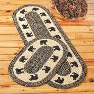Woodland Creatures Cotton Braided Rug Cabin Décor