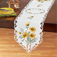 Beautiful Sunflowers Embroidered Table Topper - 44159