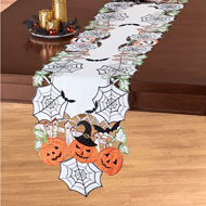 Halloween Party Pumpkins and Bats Table Topper - 44175