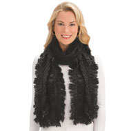 Soft Woven Scarf with Tasseled Fringe - 44186