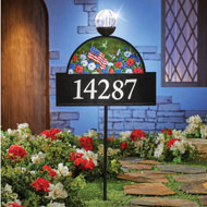 4 Seasons Decorative Address Sign with Solar Light - 44199