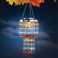 Colorful Sparkling Outdoor Solar Chandelier - 44223
