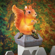 Solar Lit Squirrel Fence and Bannister Post Cap - 44242