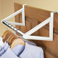 Over the Door Closet Bar Hanging Clothes Rack - 44247
