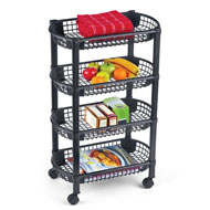 4-Tier Rolling Cart w/ Storage Baskets - 44254