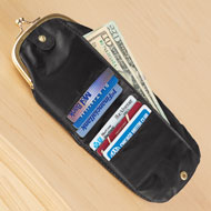 Black Vintage Style Coin Purse with RFID Wallet - 44289