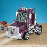 Big Rig Truck Alarm Clock with Movement and Sound - 44304