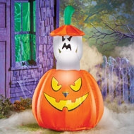 Inflatable Pop-up Animated Ghost Halloween Décor - 44313