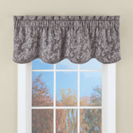 Floral Window Valance with Leaf Silhouette Pattern - 44329