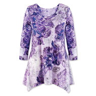 Paisley Scroll Tunic Top in Purple - 44340