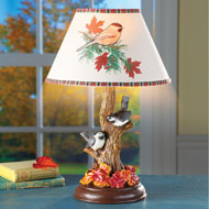 Chickadee Birds in Tree Table Lamp - 44344
